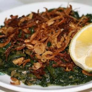 Dandelion salad (Hindbeh)