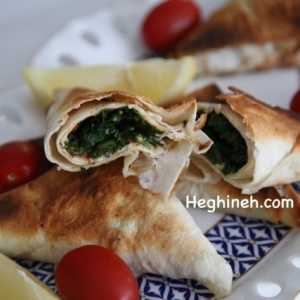 Lavash Herb Triangles