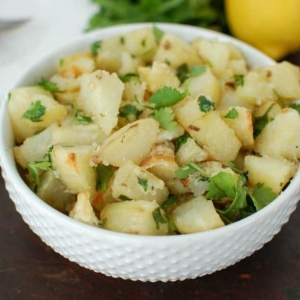 Lemon Cilantro Roasted Potatoes