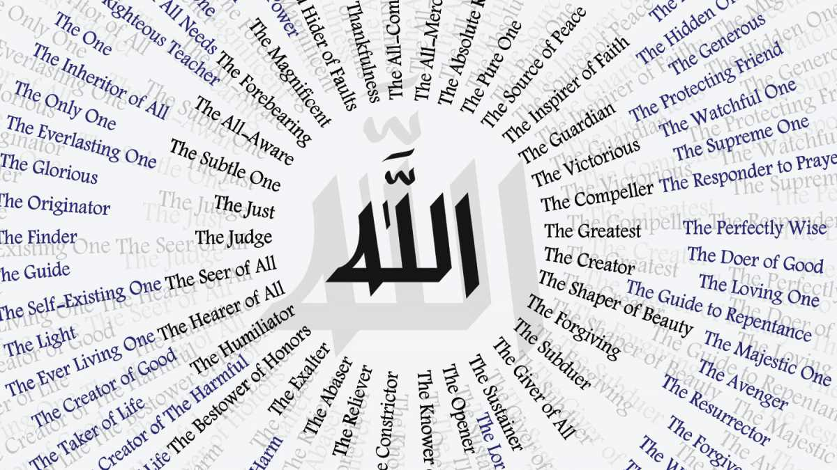 Image result for 99 names of allah