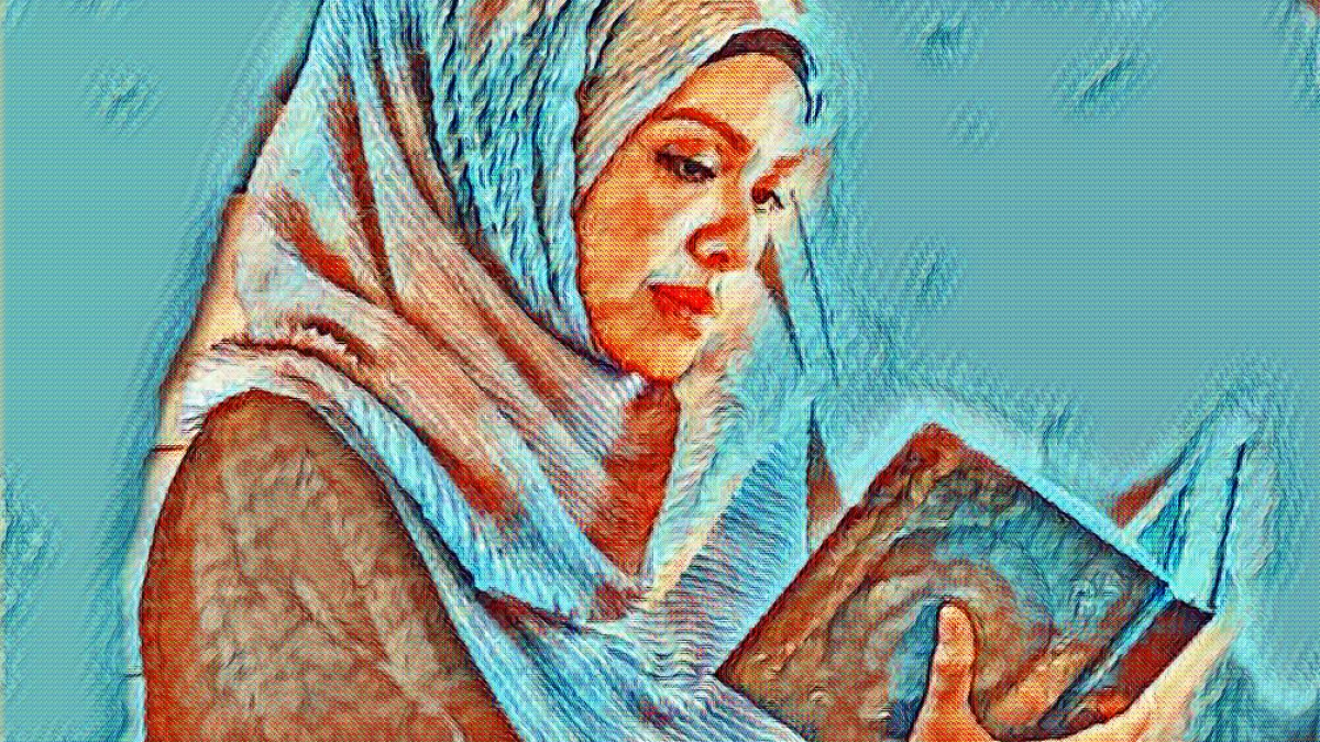 Image result for muslim  woman coran art