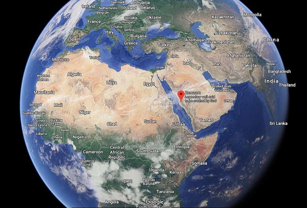 Geo location of zamzam