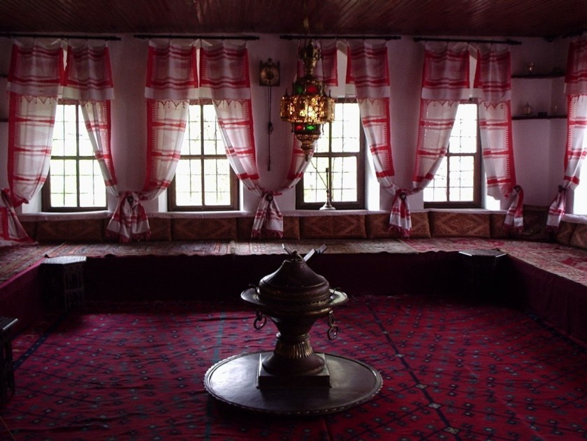 The interior of an upper floor in a traditional house in Sarajevo, Bosnia.