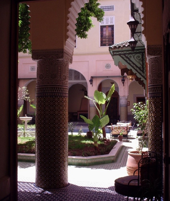 A courtyard house in Fez, Morocco.