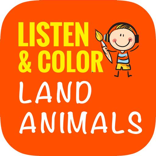 Listen & Color Land Animals